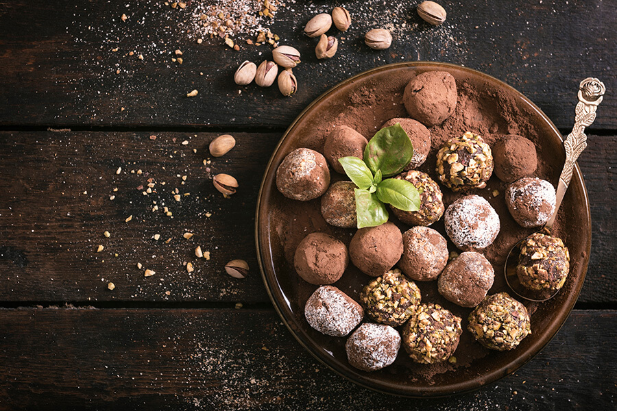 טראפלס שוקולד מתאים לטבעונים